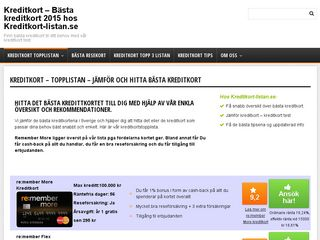 kreditkort-listan.se