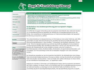 vorratsdatenspeicherung.de