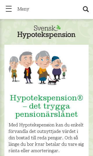Hypotekspension® – det trygga speciallånet för pensionärer