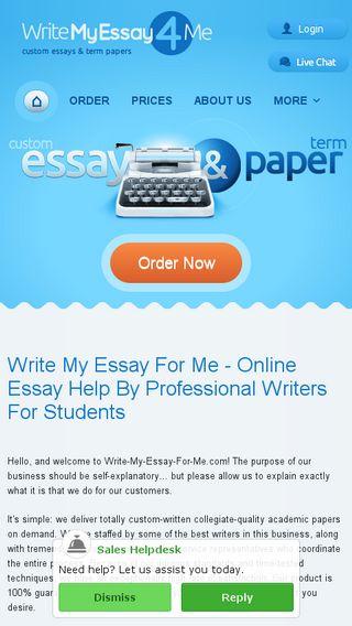 Write my essay for me com