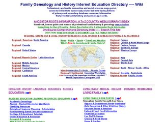 Earlier screenshot of academic-genealogy.com