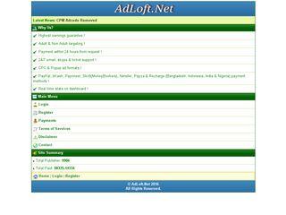 Earlier screenshot of adloft.net