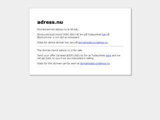 Earlier screenshot of adress.nu