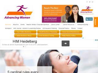 Preview of advancingwomen.com