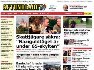 Earlier screenshot of aftonbladet.se