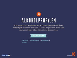 Earlier screenshot of alkoholprofilen.se