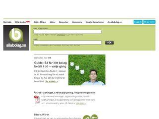 Earlier screenshot of allabolag.se