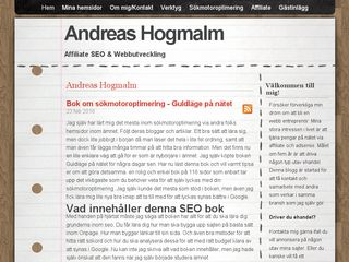 Earlier screenshot of andreashogmalm.se