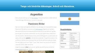 Earlier screenshot of argentina.nu