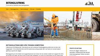 Earlier screenshot of betonggjutning.se