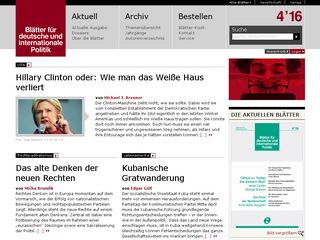 Preview of blaetter.de