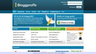 Earlier screenshot of bloggproffs.se