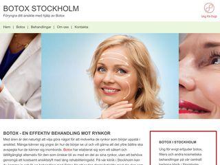 Earlier screenshot of botoxstockholm.nu