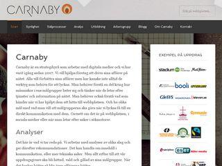 Earlier screenshot of carnaby.se