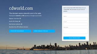 Earlier screenshot of cdworld.com