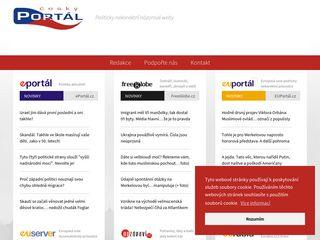 Earlier screenshot of cesky-portal.cz