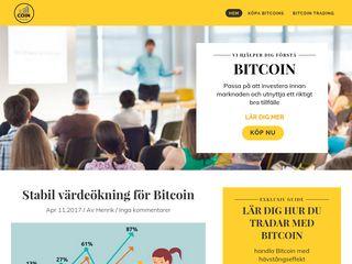 Earlier screenshot of coinbuddy.se