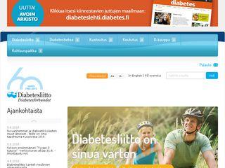 Preview of diabetes.fi