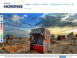 Earlier screenshot of die-ganze-nordsee.de