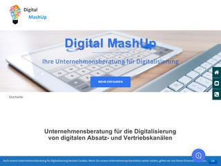Earlier screenshot of digital-mashup.de