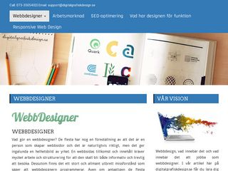 Earlier screenshot of digitalgrafiskdesign.se