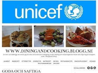 Earlier screenshot of diningandcooking.blogg.se