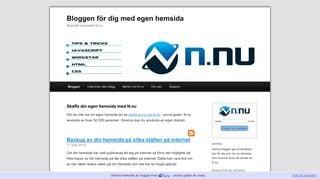 Earlier screenshot of egenhemsida.nu