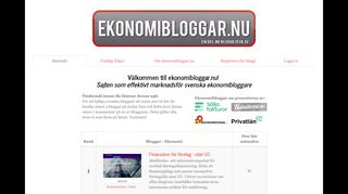 Earlier screenshot of ekonomibloggar.nu