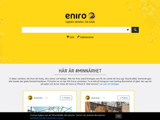 Earlier screenshot of eniro.se