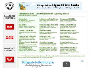 fotbollsmatch.se