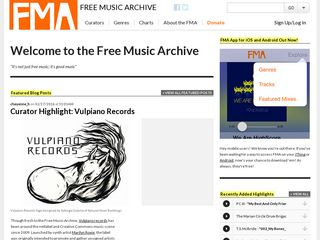 Preview of freemusicarchive.org