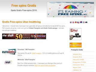 Earlier screenshot of freespins.at