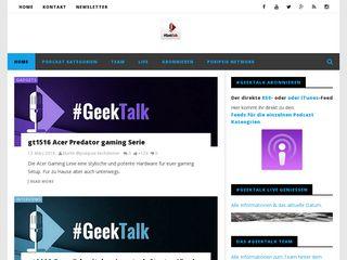 Earlier screenshot of geektalk.ch