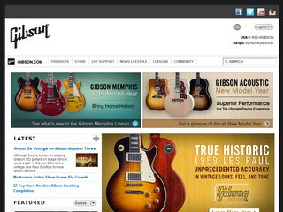 Preview of gibson.com