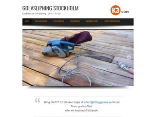 Earlier screenshot of golvsliparnastockholm.nu