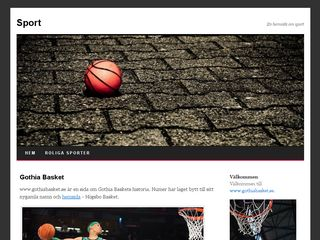 Earlier screenshot of gothiabasket.se