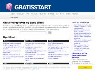 Earlier screenshot of gratisstart.dk