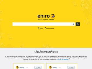 Earlier screenshot of gulasidorna.eniro.se