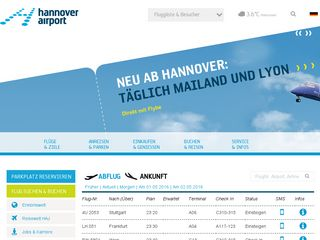 Preview of hannover-airport.de
