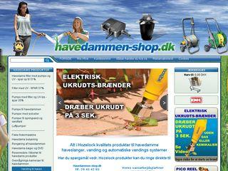 Earlier screenshot of havedammen-shop.dk