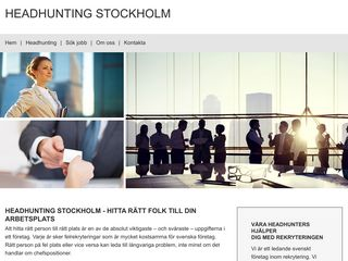 Earlier screenshot of headhuntingstockholm.nu