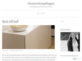 Earlier screenshot of heminredningsbloggen.wordpress.com