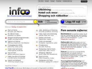 Earlier screenshot of infoo.se