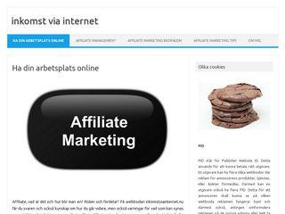 Earlier screenshot of inkomstviainternet.nu