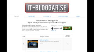 Earlier screenshot of it-bloggar.se