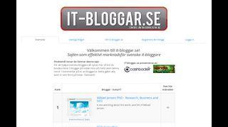 Earlier screenshot of it-bloggar.se