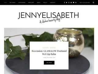 Earlier screenshot of jennyelisabeth.se