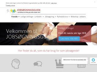 Earlier screenshot of jobsogningsguide.dk