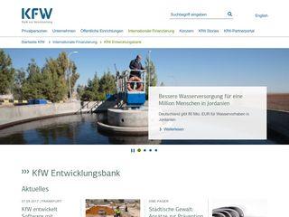 Earlier screenshot of kfw-entwicklungsbank.de
