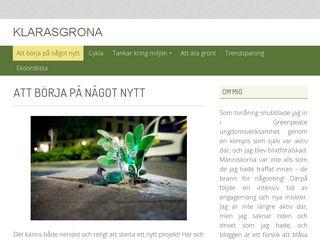 Earlier screenshot of klarasgrona.se